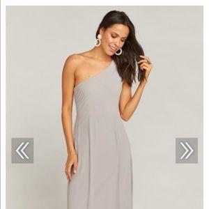 SHOW ME YOUR MUMU ELIZA ONE SHOULDER DRESS - SMALL